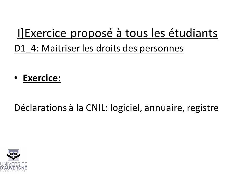 I]Exercice proposé à tous les étudiants